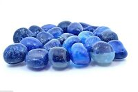 Blue Onyx Dyed Tumbled Stone 20mm Qty1 Reiki Healing Crystals by Cisco Traders
