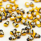 Wholesale 100x Home Decor Mini Bee Wooden Sponge Self-adhesive Wall Stickers Diy