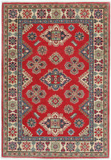 4x6 Hand-Knotted Kazak Carpet Tribal Red Fine Wool Area Rug D57171