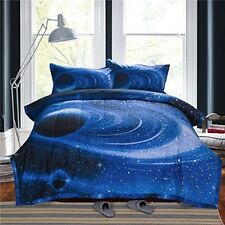 Kids Milky Way Comforter Set Full Size Outer Space Bedroom Astronomy Bed Sheets