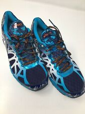 more photos 42c7f f9ad5 Asics Gel-Noosa Tri 9 Men Shoes Size 8 Blue White Training Triathlon T408N