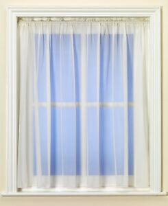 Best Selling Plain CREAM Net Curtain With Lead Weighted Hem & Slot Top