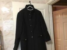 Ladies long woollen mix coat in dark grey