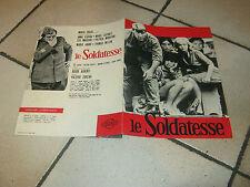 BROCHURE,1965 leSOLDATESSE,ANNA KARIMA,LEA MASSARI,TOMAS MILIAN,V.ZURLINI
