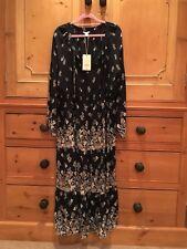 BNWT Monsoon Size 16 Martina Navy Beige Floral Midi Dress