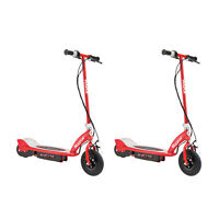 Razor E175 Motorized 24V Rechargeable Electric Power Kids Scooter, Red (2 Pack)