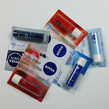 4Pcs NIVEA Lip Care Balm Lipstick Long Lasting Moisture Care 4.8g (5.5ml) korea