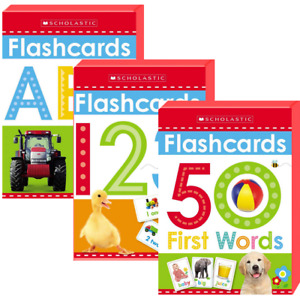 Flashcards 50 First Words Scholastic Early Learners (Box Set) FREE Shipping $35