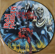 EX 1982 ORIGINAL IRON MAIDEN NUMBER OF THE BEAST VINYL LP PICTURE DISC EMCP 3400