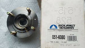 1993 Plymouth Colt Vista, Eagle Summit wagon rear wheel bearing, hub, new