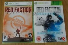 AS NEW Xbox 360 2 Games: Red Faction Armageddon and Guerrilla, M, PAL