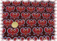 Heart Craft Sweatshirtstoff braun Hilco Herzchen 50 cm
