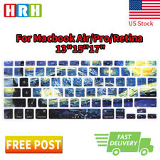 Starry Night Keyboard Cover Silicone Skin Protector for MacBook Air Pro13 15 17