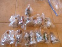 14 PC ADORABLE  1985 PORCELAIN FRANKLIN MINT WOODMOUSE FAMILY FIGURINES NO DMG