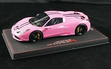 1/18 BBR FERRARI 458 SPECIALE A COUPE GLOSS QATAR PINK DELUXE BASE LE 10 PCS MR
