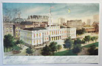 Antique HTL POSTCARD Hold to Light New York City Hall 1907 Koehler 1503 Vintage