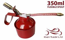 350ml OIL CAN - FLEXIBLE SPOUT. LUBRICANT THUMB PUMP STEEL BODY RUBBER HOSE