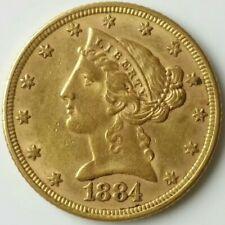 1884 $5 Liberty Head Gold Half Eagle