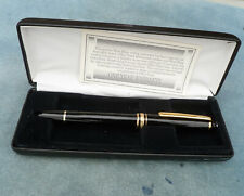 Montblanc Classique Rollerball Pen Black with Gold Trim