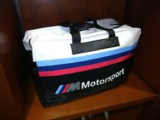 BMW M Motorsport Travel Bag with M Color Stripe Print and Straps 80222461145