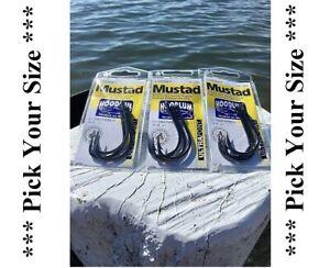 3 x pkts Live Bait Hooks Mustad Hoodlum Live bait Hook ! Pick your Size !