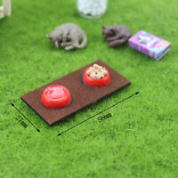 1:12 Miniature cat and dog food bowl dollhouse diy doll house decor accessory SE