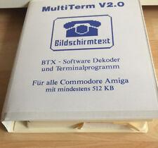 Amiga MultiTerm software v2.0 & datatronic modem per Amiga