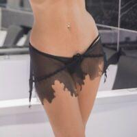 Patrice Catanzaro - Ibiza - Mini-jupe sexy en maille résille noire transparente