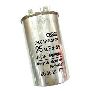 Air Conditioner Start Capacitor Industrial Motor Capacitor CBB65 450V25UF