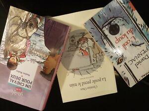 Lotto 3 libri in francese per ragazzi PENNAC, WALTER, OSTER