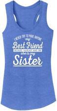 Ladies Best Friend Sister Tri-Blend Tank Top Aunt
