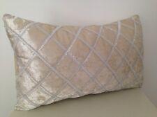 Beige Silver Diamond Stitch Suede Velvet Soft Pillow Cushion Cover 30x50cm
