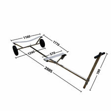 "Boat Dolly Trailer with 15'' X 4"" Launching Dinghy dolly - Stainless Steel"