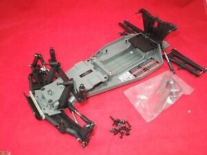 Traxxas RUSTLER vxl chassis parts lot +tools roller rolling brushless