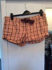 Jack Wills Pink Check PJ Shorts Size 12 Used But Good Condition