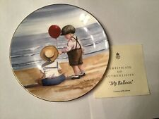 """More details for 7.5"""" royal  worcester one glorious summer 'my balloon' decorative plate 1993"""