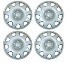 "Set of 4 14"" Silver Wheel Trims / Hub Caps fits Fiat 500"