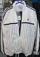 SIZE LARGE 44/46 - ADIDAS FULL ZIP WOVEN FULL TRACKSUIT - WHITE / NAVY