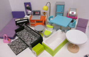 Kidkraft Barbie Wood Dollhouse Replacement Furniture Lot Bed Bath Couch Patio