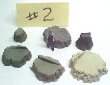 Stumps Assortment #2 cast resin All Scales see chart, O,S,HO, logging scenery