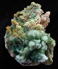 STUNNING GREEN AND BROWN STILBITE BOWS ON PINK AND GREEN HEULANDITE FORMATION MA