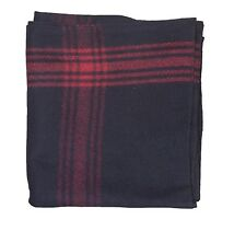 Red-striped Navy 70% Wool Blanket by Fox Outdoor - Replica of NATO Military