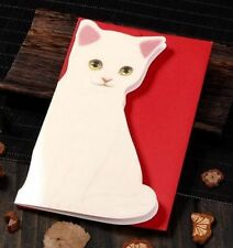 FD5243* Holiday Greeting Cards Korea Cats A Message Memo Card X'mas Gift 1pc