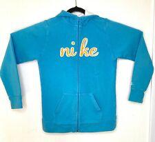 Nike Youth Girls Hoodie Jacket XL Blue Athletic Sweatshirt Full Front Zip