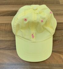 PRE-LOVED RALPH LAUREN YELLOW BASEBALL CAP PINK LOGO TODDLER ONE SIZE ADJUSTABLE