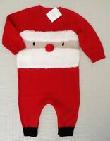 BNWT NEXT Baby Boys Santa Knitted Romper Christmas All In One Playsuit 3-6months