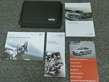 2016 Audi TT TTS Quattro Coupe Convertible Owner Owner's Manual User Guide 2.0L