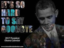 2017 President Obama Calendar (Black Cover)