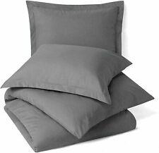 Handmade Solid Uni Mikrofaser Nur Bett Kissenbezug Grau Set Mit 2 für Geschenk