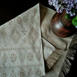 Linen tablecloth strip for the table.Linen 100%. Ecologically Clean product.
